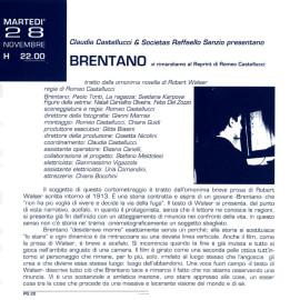 Testo di presentazione del film Brentano