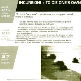 Rivista Link Project 1996, Incursioni prima edizione