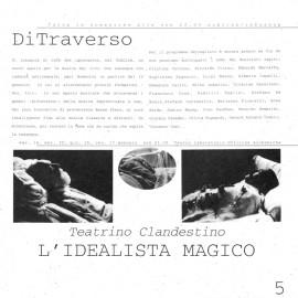"""Locandina Teatrino Clandestino """"L'idealista Magico"""""""