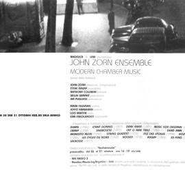 Rivista Link Project 1998, concerto di John Zonr
