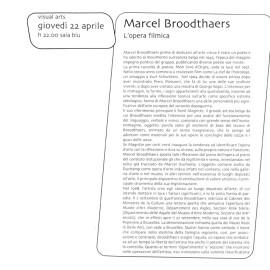 Rivista Link Project 1999, serata dedicata a Marcel Broodthaers