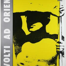 Ottobre 1983 / RIVOLTI AD ORIENTE manifesto 70x100 realizzato la stagione 1983-1984 - serigrafa a due colori