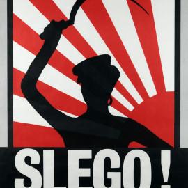 """Novembre 1983, manifesto 70x100 realizzato la serata """"Japanese Party"""" di Complotto Grafco - serigrafa a due colori"""
