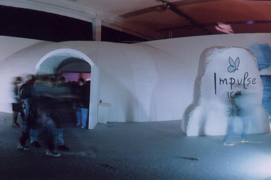 Nightwave, Rimini 2000. Allestimento per stand Impulse by G.T. Garattoni