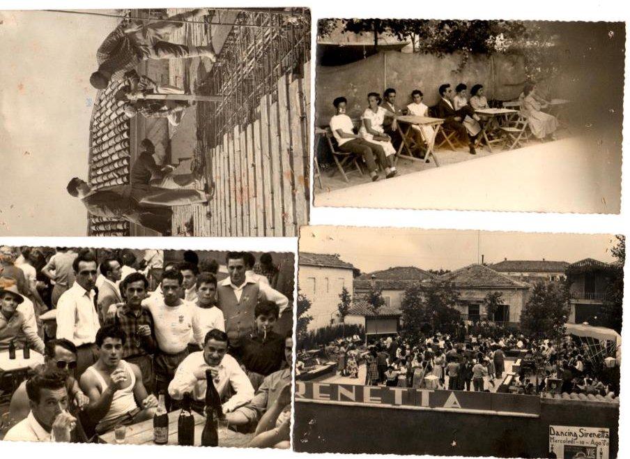 Collage di foto della casa del popoli dove c'era anche la balera Dancing Sirenetta che successivamente grazie a dei lavori divenne lo Slego, © Rino Rinaldini