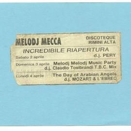 Biglietto d'ingresso del Melody Mecca di Rimini del 1983, © Luca Ghibellini