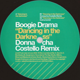"Centrino del vinile ""Dancing in the Darkness"" di Boogie Drama, 2006 - Was Not Was"