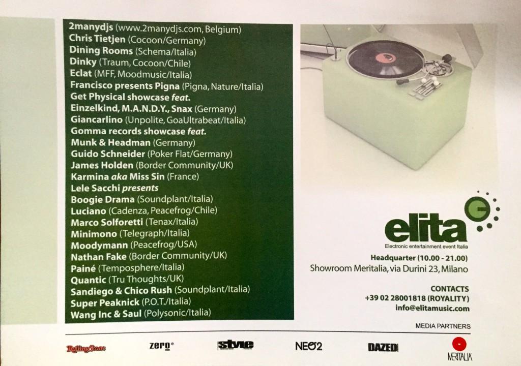 Flyer di Elita 2006