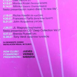 Flyer Row Barcellona 2001