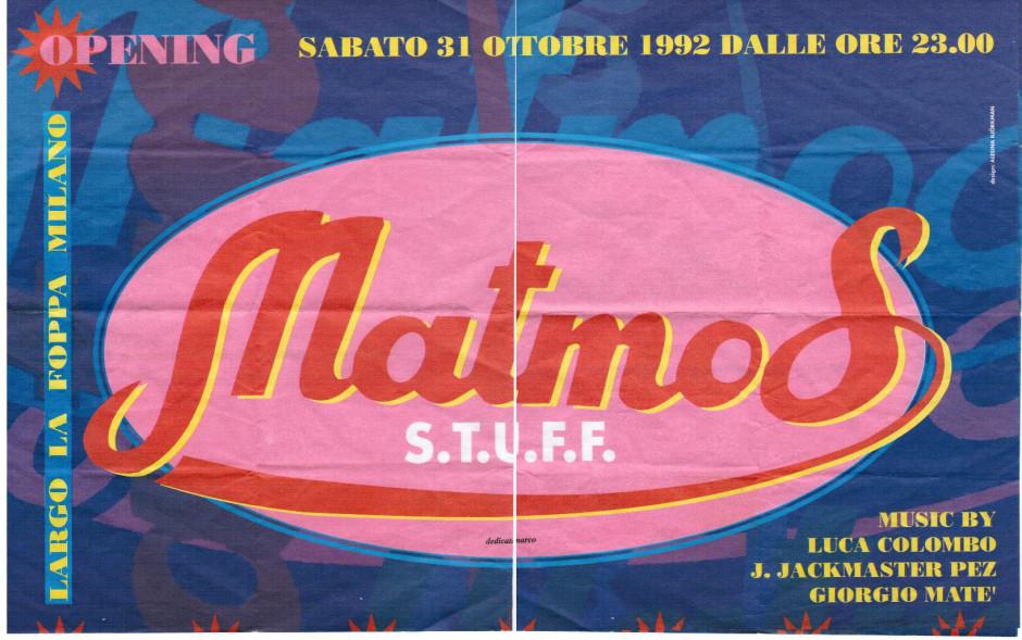 Flyer Matmos 1992