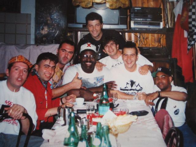 Cena durante il primo tour italiano di Frankie Knuckles © www.facenight.it